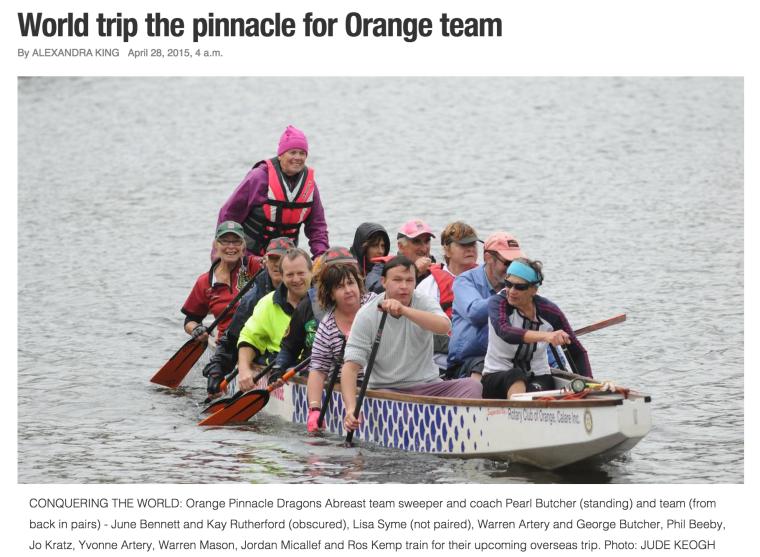 Article on Australian team